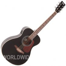 Vintage VE300BK Electro Acoustic Guitar - Gloss Black finish - Brand New